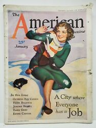 The American Magazine January 1932 Vintage Articles Short Stories Fiction Ads