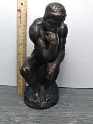 Sculpture Of The Thinking Man - Austin Productions - Rare 9.25 Statue 1962