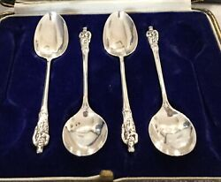 Antique Sterling Silver Apostle Spoons X4. Cooper Brothers And Sons Sheffield 1927