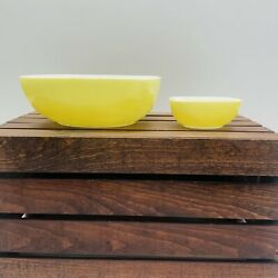 Pyrex Vintage Pineapple Chip And Dip Party Set Yellow No Bracket