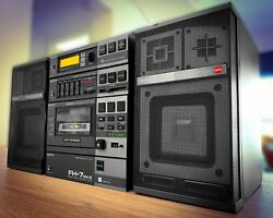 Sony Fh-7 Mark-iii Boombox 1982 ✔rare✔ Vintage Stereo Recorder