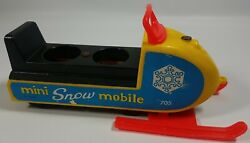 Vintage Fisher Price Little People 705 Mini Snowmobile
