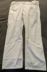Nwt Leviand039s Menand039s 514 Straight Fit Jeans White Size 42x32 White Tab
