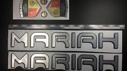 Mariah Boat Emblems 22 Black Chrome + Free Fast Delivery Dhl Express - Stickers