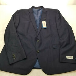 Kenneth Cole Reaction Big And Tall Techni-cole Open Bottom Suits Navy 52r-new-
