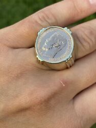 Vintage 18k Yellow Gold Antique Russian Gold Coin Nicholas Ii Ring