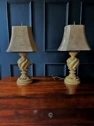 Vintage Pair Of Large Good Quality Table Lamps