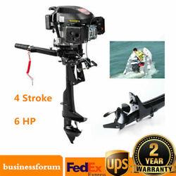 4 Stroke 6hp Gas Outboard Motor Fishing Boat Trolling Engine Wi/ Air Cooling Usa