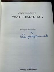 Signed George Daniels Watchmaking 1st Edition Book. Rare. Breguet Watch Horology