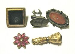 Antique Vintage Jewelry Lot 5 Pieces Silver Gold Gold Filled Parts/repair 20.6 G