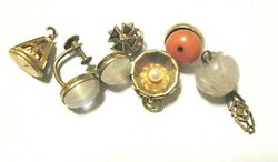 Antique Vintage Jewelry Lot 6 Pieces For Parts/repair Gold Filled 8.8 Grams