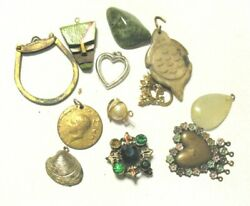 Vintage Antique Jewelry Lot For Parts Repair Crafting 12 Pieces