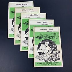 Advance Trades School Wiring Lighting Lessons 5 How-to Booklets Handyman Diy 60s
