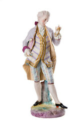 Antique 1845and039s Original Large Porcelain Figurine French Vion And Baury Marked 43cm
