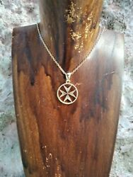 Cross Of The Knights Templar Whit Chain Made Yellow Gold 18 K- Artisan Product