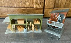 Vtg '80s Lionel Buildings Mt Clemens 48043 And Lumber Shed 6-2720 O And 027 Scale