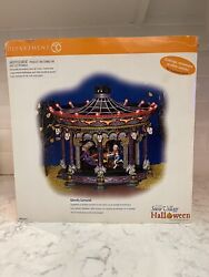 Dept 56 Snow Village Halloween Ghostly Carousel. Sound And Motion. No Lights.