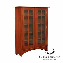 Stickley Mission Collection Cherry Double Door Bookcase
