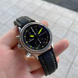 Sinn Euro Flieger 2 Chronograph Military Lefty Automatic Watch Used Limited Ver.