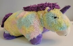 Pillow Pets Glow Pets Rainbow Unicorn 17 Tested And Works - Lights Up