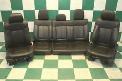 09-14 F-150 Crew Black Leather Dual Power Heated Cooled Bucket Seats Backseat
