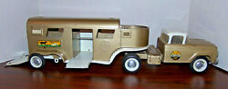 Vintage 1960s Nylint Horse Van Truck And Trailer T Farms Pressed Steel Toy No 6300