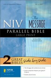 Niv/the Message Parallel Bible, Large Print By Zondervan - Hardcover Excellent