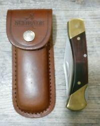 Original Schrade Uncle Henry Lb7 Knife Made In Usa W/ Sheath Mint