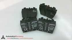 Siemens 3sb3400-0a - Pack Of 4, Contact Block, 2 Contact Elements, New 189496