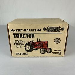 Massey Harris 44 Wide Front Tractor Special Edition 1988 By Ertl 1/16 Scale