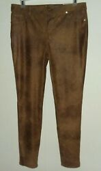 New Chicos Ultimate Fit Womens 1.5 10 Faux Knit Suede Slim Pants Stretch Nwt