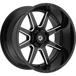 Gear Offroad 762bm Pivot 22x12 6x139.7 Et-44 Gloss Blk/milled Accents Qty Of 4