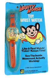 Mighty Mouse Kid's Toy Wrist Watch 1980