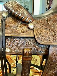 Victor Vintage Equitation Show Saddle ,stirrups ,exceptionally Good Condition.