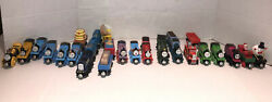 Thomas And Friends Lot Of 28 Wooden Trains D Some Are Vintage Toys