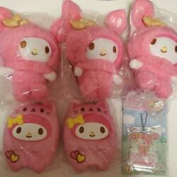 Sanrio My Melody Plush Smartphone Stand Keychain Silicone Pouch Set