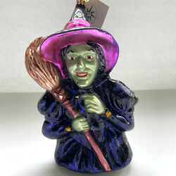 Christopher Radko I Mean Green Witch Ornament Wizard Of Oz Hard To Find