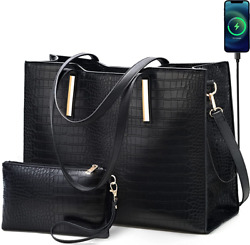 Laptop Tote Bag for Women Large 15.6 inch Computer Messenger Bag Office Briefcas $69.95
