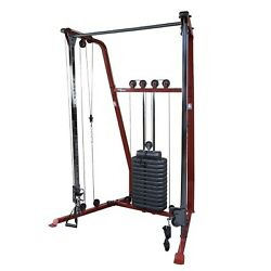 Functional Trainer W/ 190 Lb Weight Stackandnbsp Best Fitness Bfft10r Home Gym Machine