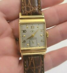 Vintage Hamilton Wesley-b 14k Solid Gold Menand039s Fw Woolworth Co Award Watch Works
