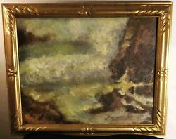 Sale Antique G T Margeson Listed Rockport Ma Framed Signed Oil Painting