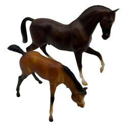 Vintage Breyer Traditional Horses Roemer amp; Bows 2 Pieces Decor Display