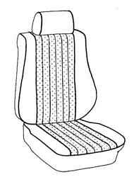 Mercedes 126 1986-1988 Rear Bucket Seat Upholstery Coupe