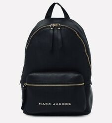 Marc Jacobs Black Pebbled Leather Backpack NWT Factory Tags Authentic $350 $189.99