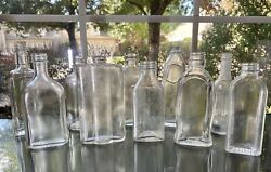 Lot Of 10 Art-deco Medicine Apothecary Bottles Vintage 1920s- 1930s Nice