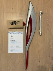 Brand New Sochi Torch Olympic Games 2014 Russia With Gas Tank, Diploma And Pouch