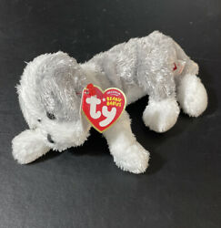 Ty Beanie Baby - Matlock The Dog With Very Rare Extra Blank Swing Tag Attached