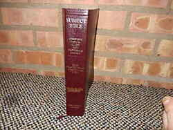 2000 Assurance Subject Bible Kjv Complete Topical Study Reference Leather Unread