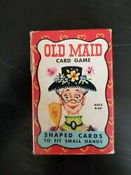 Vintage Old Maid Card Game Shaped Cards Built Rite Toys