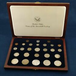 Coins Of The 20th Century Us Collection In Presentation Box - Free Shipping Usa
